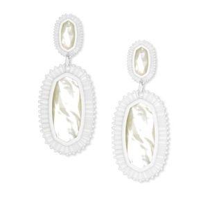 Kendra Scott| Kaki White Earrings